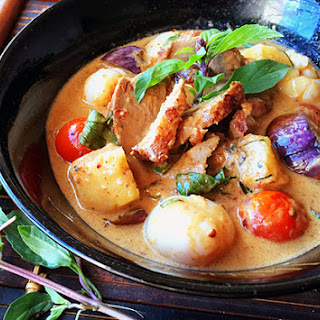 Turning up the heat on Thai Style Red Duck Curry.
