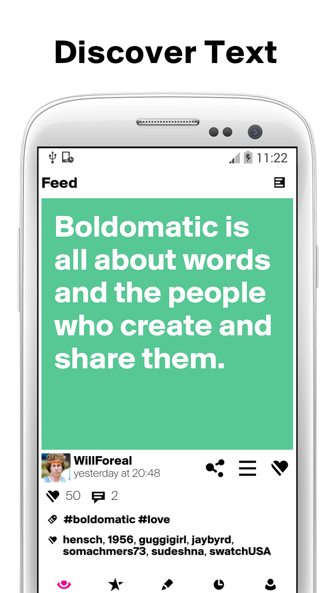 Boldomatic - Everything Text screenshot #1