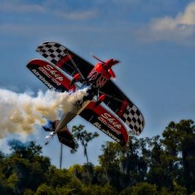 Bipe by Chris Thomas - Transportation Airplanes ( biplane, florida, airplane, stunt, lakeland, stunt.airshow )