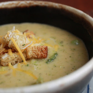 Broccoli Cheddar Ale Soup
