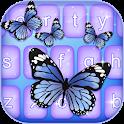 Borboletas cor teclado icon