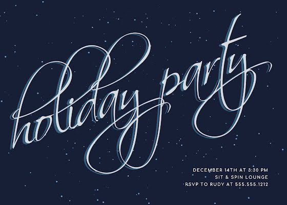 December Holiday Party - Christmas Card Template
