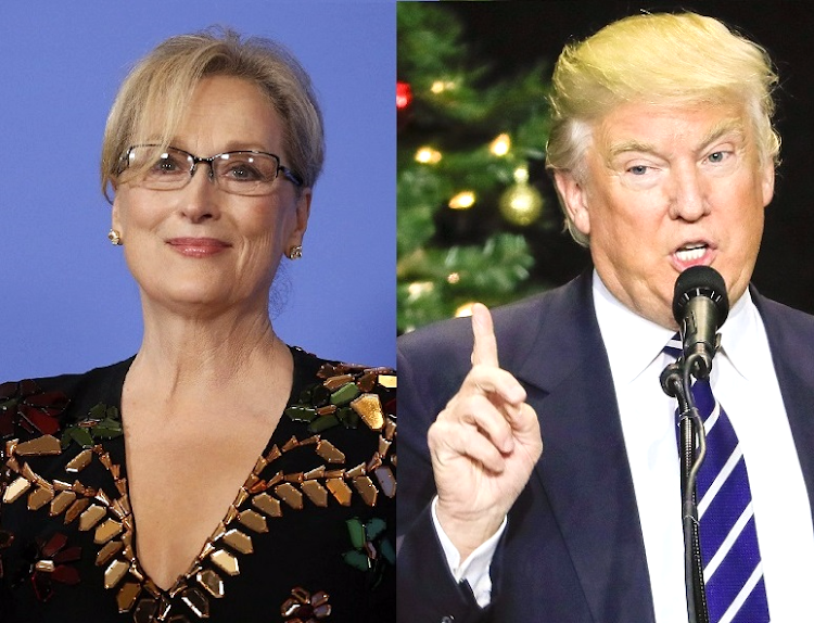 Meryl Streep and Donald Trump. Picture: REUTERS