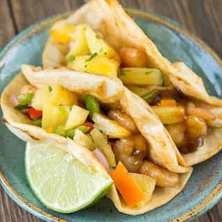 Teriyaki Shrimp Tacos.
