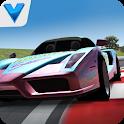 City car racing 3D icon