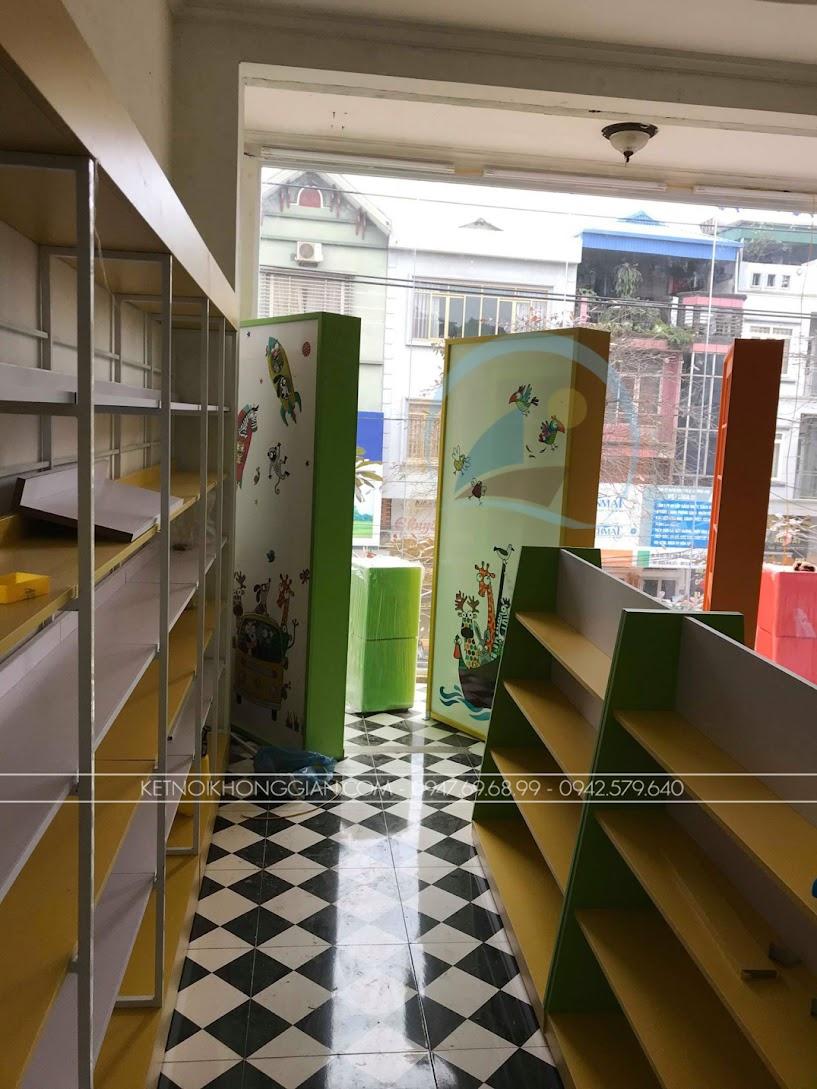 thiết kế và thi công nội thất nhà sách đẹp