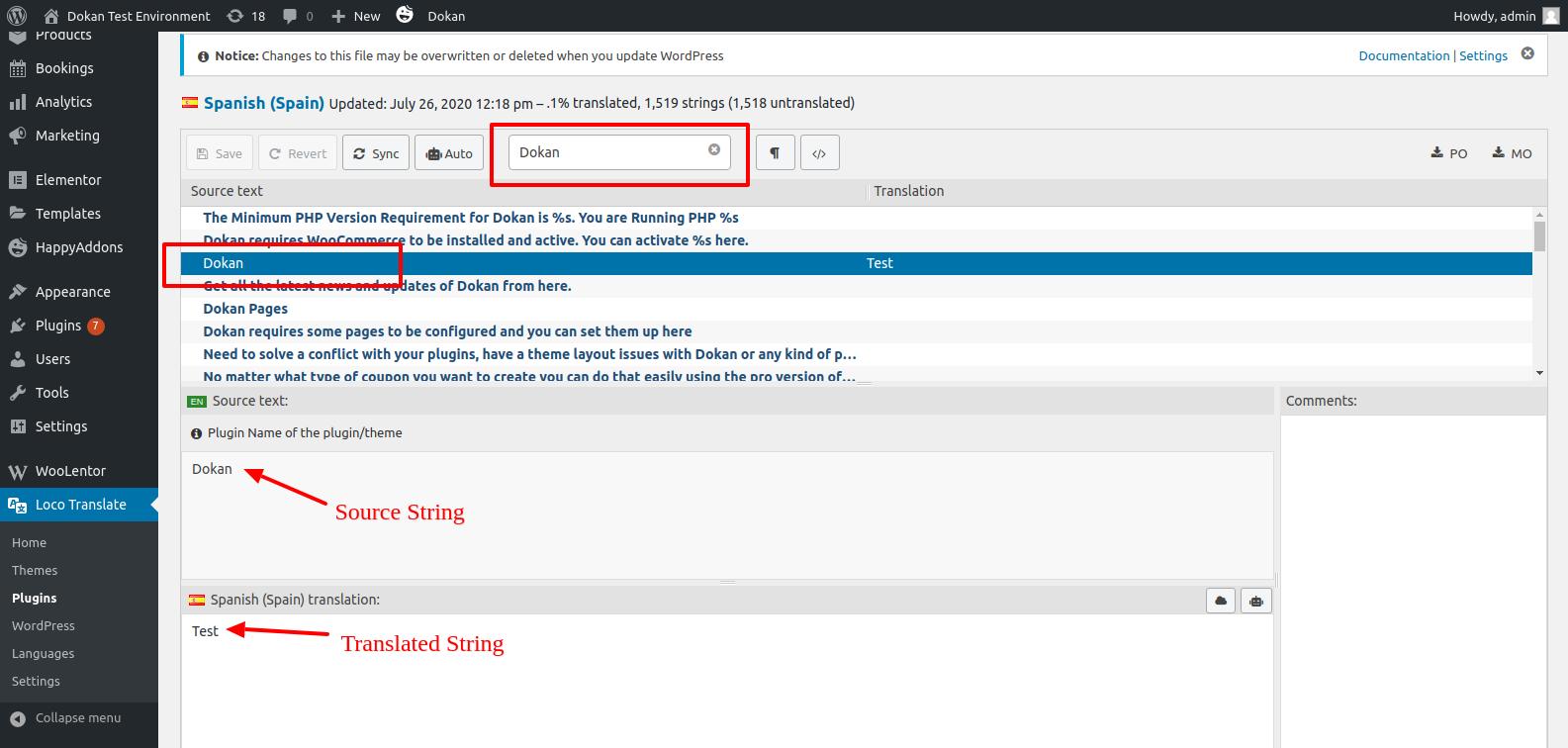 Translating WordPress plugin