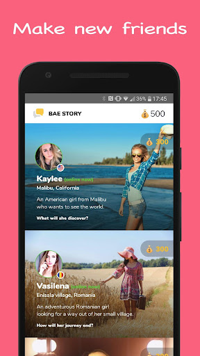 Bae Story Interactive Tap, Text and Chat Game 2.13 screenshots 1