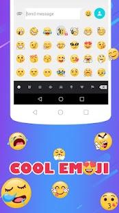 Cool SMS Free Emoji Keyboard - náhled