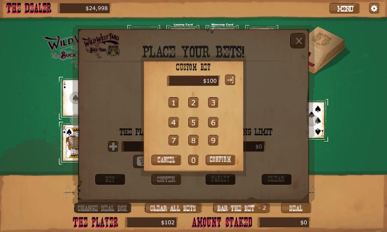 Wild West Faro Screenshot