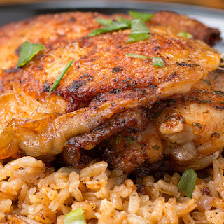 Paprika Chicken And Rice Bake.