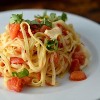 Counter-Marinated Tomato + Garlic Pasta