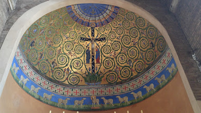 Photo: Another dome with cool mosaics of 12 sheep. Opposite side, there's a third dome with a mosaic of the Last Supper.