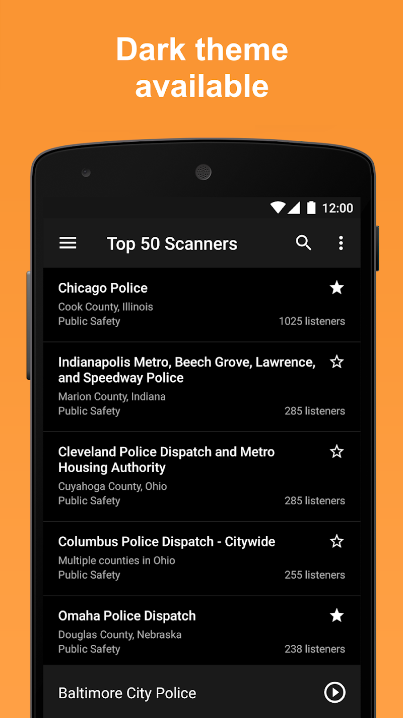 Scanner Radio Pro - Fire and Police Scanner Screenshot 7
