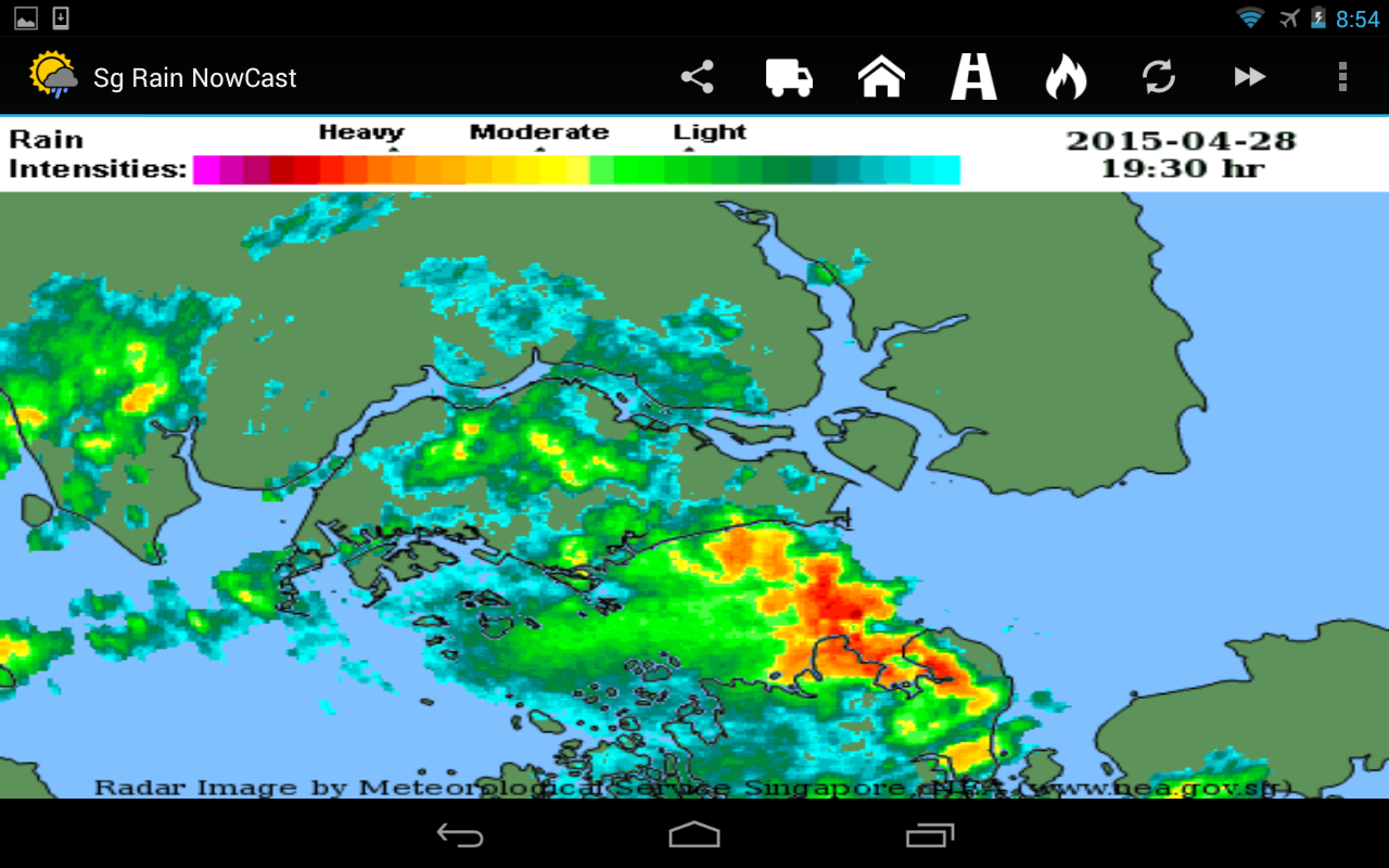 Sg Rain NowCast- screenshot