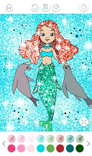 Girls Coloring Book for Kids Glitter apkpoly screenshots 4