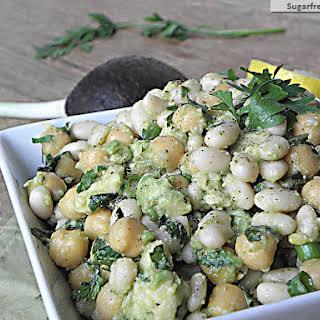 Avocado Bean Salad with Fresh Herbs.