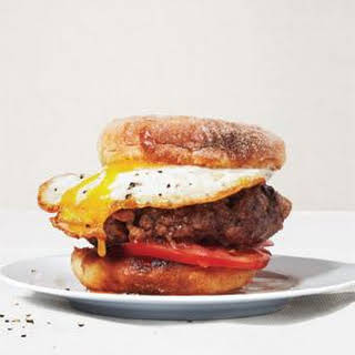 Beef, Bacon, and Egg Burgers.