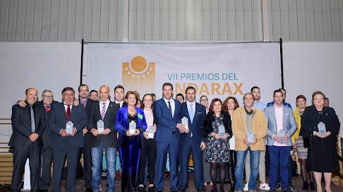 Foto de familia de los galardonados en los VII Premios del Andarax