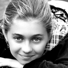 Cute B&W by Cheryl Korotky - Black & White Portraits & People