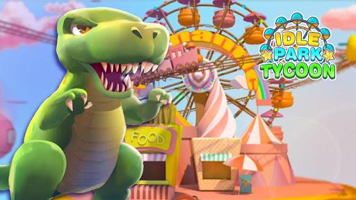 Idle Park Tycoon - Dinosaur Theme Park apkpoly screenshots 1