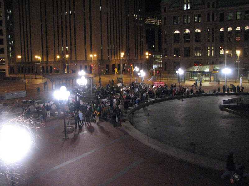 Photo: 2011.11.14 Monday evening (day 39) Hennepin County plaza, left