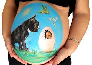 Photo: Belly painting animalicos