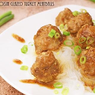 Gluten Free Hoisin Glazed Turkey Meatballs