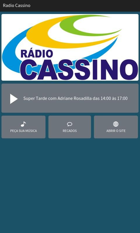 Rádio Cassino- screenshot