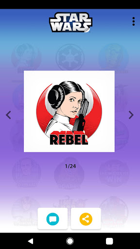 Star Wars Stickers: 40th Anniversary app for Android screenshot