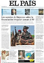 Photo: Los secretos de Bárcenas sobre la financiación irregular acosan al PP, el desafío a la UE de Cameron abre grietas entre Berlín y París, la guerra interna del narcotráfico ensangrienta el norte de México, nueve meses cautivos de Belmojtar en el Sáharay relato de un error de EL PAÍS, entre nuestros titulares de la portada del 27 de enero de 2013. http://srv00.epimg.net/pdf/elpais/1aPagina/2013/01/ep-20130127.pdf