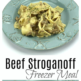 Ground Beef Stroganoff Freezer Meal Recipe