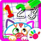 123 Draw Toddler counting for kids Drawing games icon