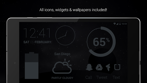 Murdered Out - Black Icon Pack (Pro Version)  screenshots 8