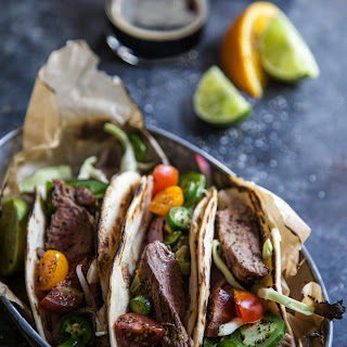 Citrus-Marinated Cuban Steak Tacos.