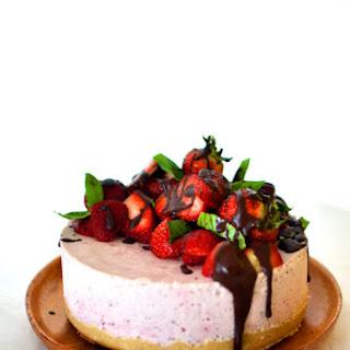 Raw Strawberry & Basil Cheesecake