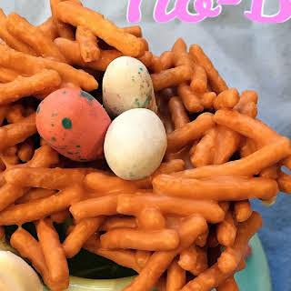 No-Bake Birds Nest Cookies.