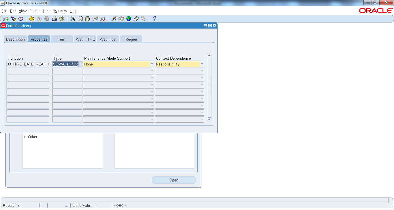 oracle apps kt requirement to hide delete icon in the salary sswa jsp function