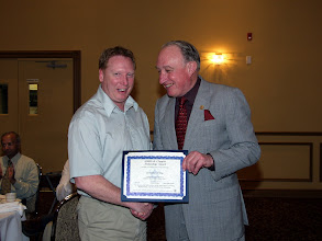 Photo: Jim Siciliano of RJ McKee received a TEGA Award