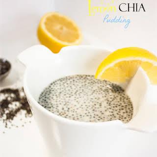 Easy Lemon Chia Pudding.
