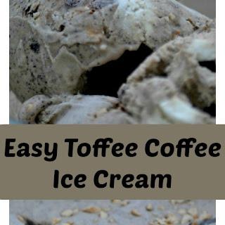 Easy Toffee Coffee Ice Cream