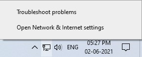 open the network settings