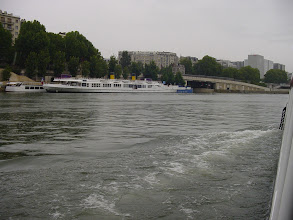 Photo: Just past the large white river cruiser is the entrance to the Arsenal Basin, a man-made lake between the Seine River and the Canal Saint Martin, and a port for pleasure boating. In the seventeenth century, this lake was just a ditch through which a small stream drained into the Seine.