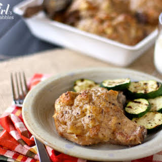 Candy's Baked Pork Chops and Stuffing.
