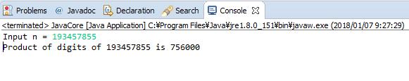 Java - Tích các chữ số của số nguyên