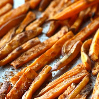 Baked Sweet Potato Fries with Japanese Seven Spice.