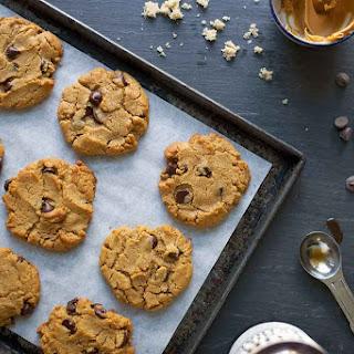 Flourless Peanut Butter Chocolate Chip Cookies.