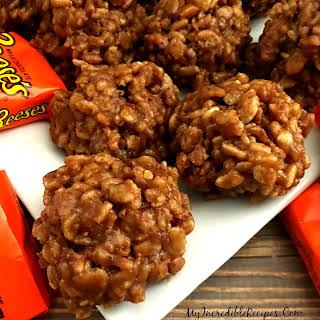 No Bake Reeses Krispy Cookies!.