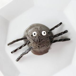 Black Licorice Ice Cream Spiders.