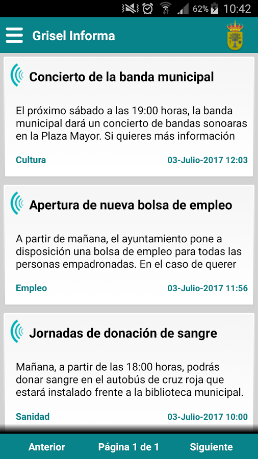 Grisel Informa- screenshot